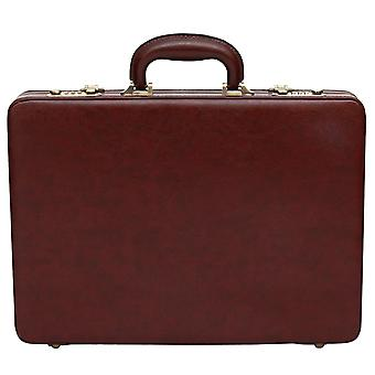 Slim line Attache Briefcase Leather Look Pu Executive Case Business Bag