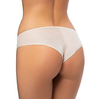 Gorsenia K480 Women's Mabell Beige Jacquard Lace Brief