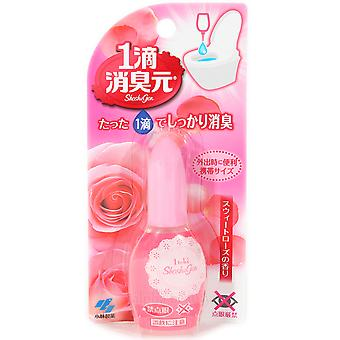 Kobayashi Japan Powerful 1 Drop Toilet Deodorizer Liquid for Toilet (20ml/.67oz) Sweet Rose
