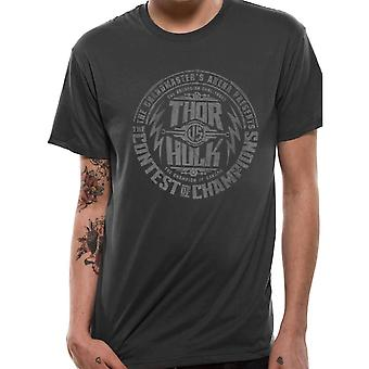 Miesten Marvel Thor Ragnarok Contest Juliste Design T-paita