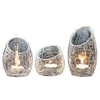 Glass Lantern Set of 3