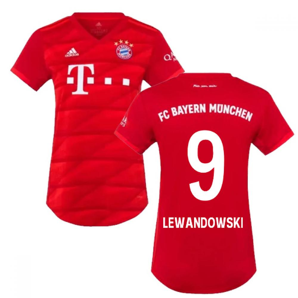 2019 2020 Bayern Munich Adidas Home Womens Shirt (LEWANDOWSKI 9)