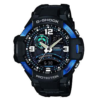 Casio G-Shock Sky Cockpit Gravity Defier Men'apos;s Black Alarm Chronograph Watch GA-1000-2BER