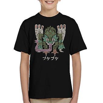 Monster Hunter Welt Pukei Pukei Kanji Ikone Kinder T-Shirt