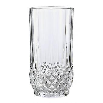 PK 6 Schnitten Longchamp Diamax Crystal Hiball Tumbler Glas Set 28 cl