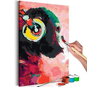 DIY kankaalle maalaus-apina kuulokkeet