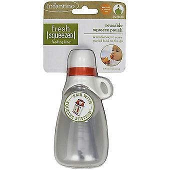 Infantino Fresh Squeezed - Reusable Squeeze Pouch