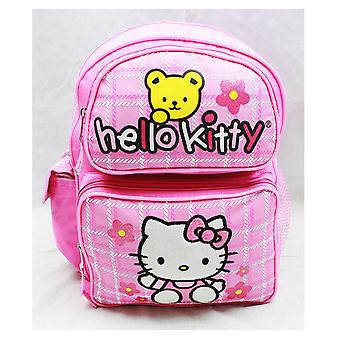 Small Backpack - Hello Kitty - Teddy Bear New School Bag Book Girls 81603