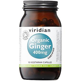 Viridian Organic Ginger root 400mg veg CAPS 90 (952)