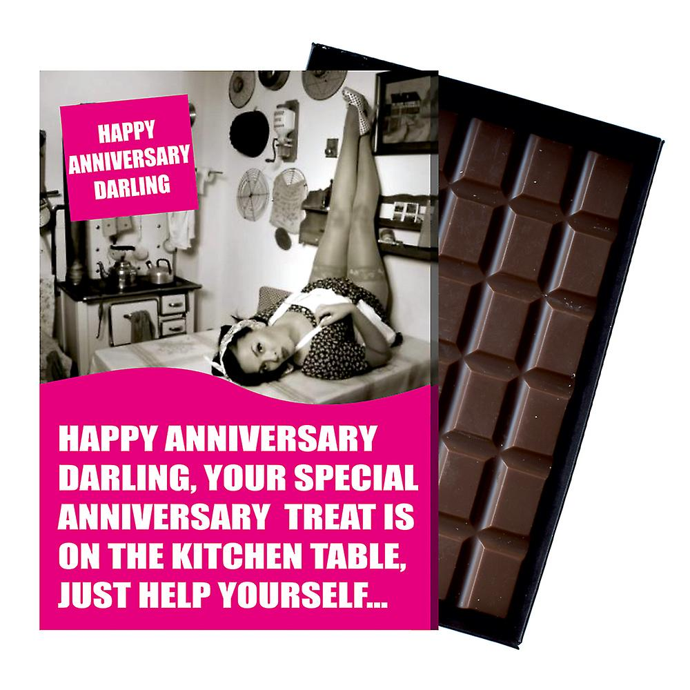 Funny Wedding Anniversary Gift For Men Husband boxed Chocolate Greeting Card Present CDL233