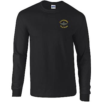 Parachute Regiment Pathfinder Platoon - Licensed British Army Embroidered Long Sleeved T-Shirt