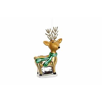 Gisela Graham Painted Glass Reindeer Decoration|Gifts From Handpicked