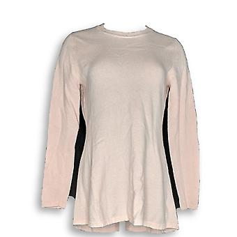 Isaac Mizrahi Live! Women's Sweater 2-Ply Cashmere Pink A292405