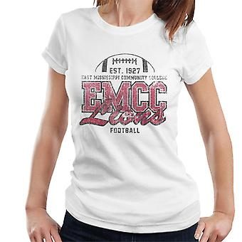 East Mississippi Community College Dark Distressed Lions Women's T-Shirt