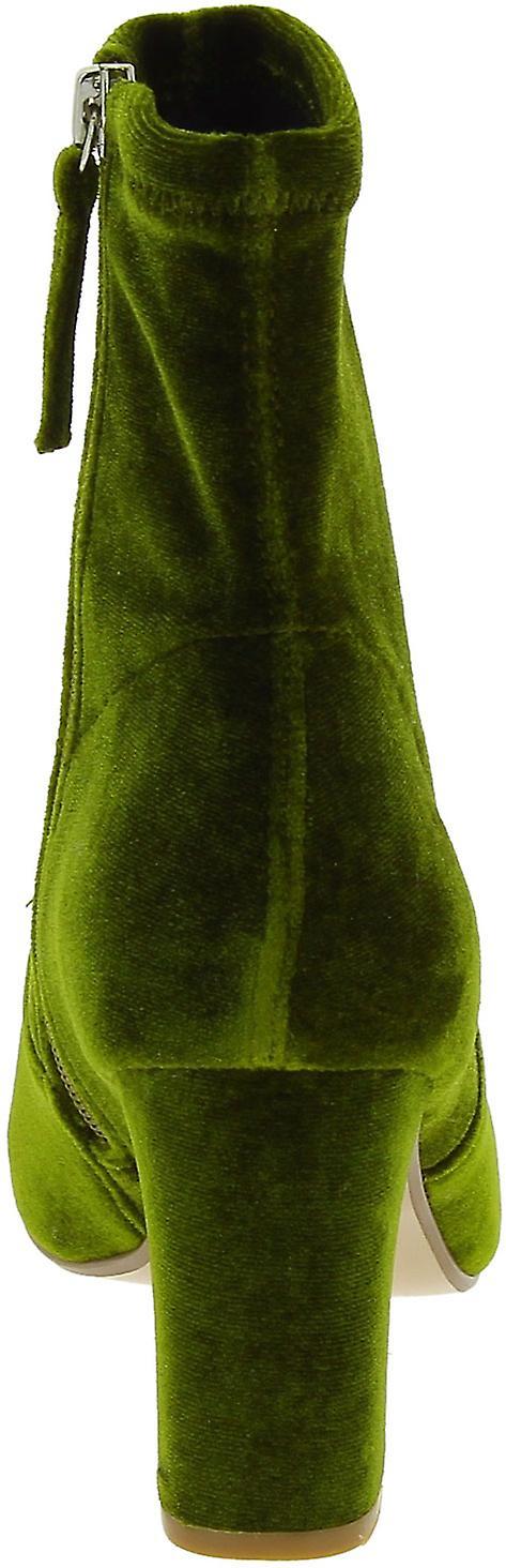 Steve Madden vrouwen ' s mode blok hakken enkellaars kant zip in groen fluweel - Gratis verzending vMnq2v