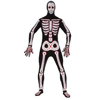 Bristol Novelty Unisex Adults Day Of The Dead Disappearing Costume