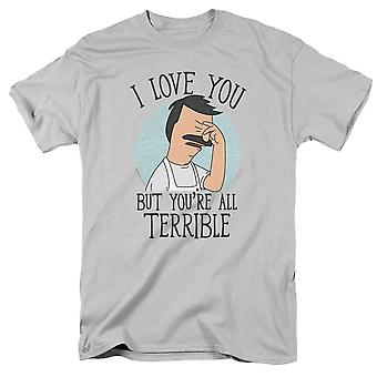 Bob's Burgers Love You But You're Terrible Men's Grey T-Shirt