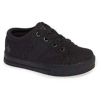 Kids Original Penguin Boys Theo Leather Low Top Lace Up Tennis Shoes
