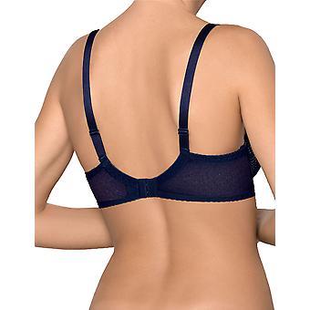 Nipplex Women's Kora Navy Blue and Nude Padded Underwired Push Up Bra