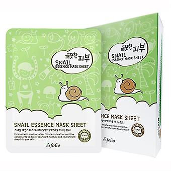 Esfolio Snail Essence Mask 10 Sheets