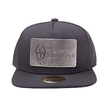 Skyrim Baseball Cap Dovakiin Logo Metal Plate new Official PS4 Black Snapback