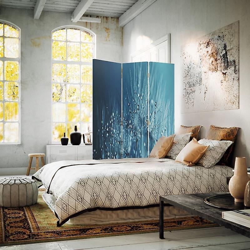 Diviseur de chambre, 3 panneaux, unilatéral, toile, dandelion et rosée 2