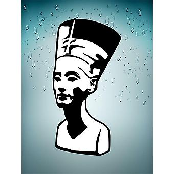 Sticker Sticker Ancient Egypt Ancient Egyptian Nefertiti Black Queen White
