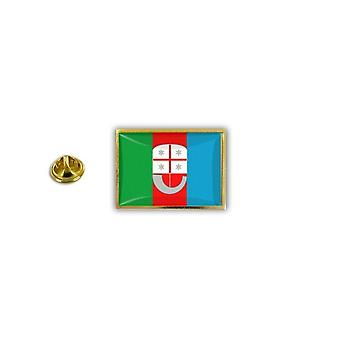 Pine Pines Badge Pin-apos;s Metal Epoxy With Butterfly Pinch Flag Italy Liguria