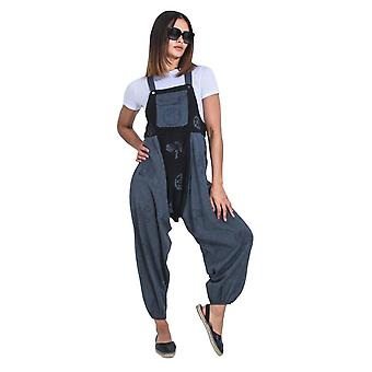 Opel baggy harem dungarees - oscuro