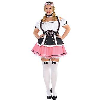 Fraulein Oktoberfest olut piika saksalainen Dirndl Baijerin aikuisten naisten puku Plus