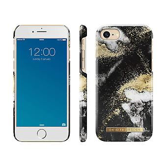 iDeal Ruotsin iPhone 8/7/6/SE (2020) kuori - Black Galaxy Marble
