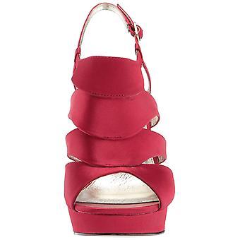 Adrianna Papell Women's Marlene Topuklu Sandal kırmızı Saten 5.5 Orta ABD