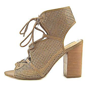 Aldo Womens Alicya Leather Peep Toe Casual Mule Sandals