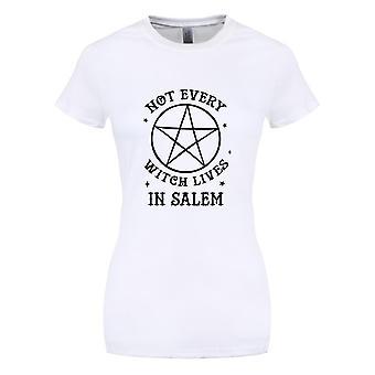 Grindstore naisten/naisten ei jokainen noita asuu nyt paikka kunnalla Salem White T-paita