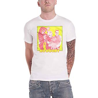 No Doubt T Shirt Yellow Photo Band Logo new Official Mens White