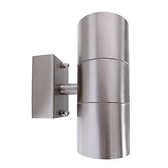 Buiten muur lamp Zilly up & amp; Dons zilver 160mm 2x GU10