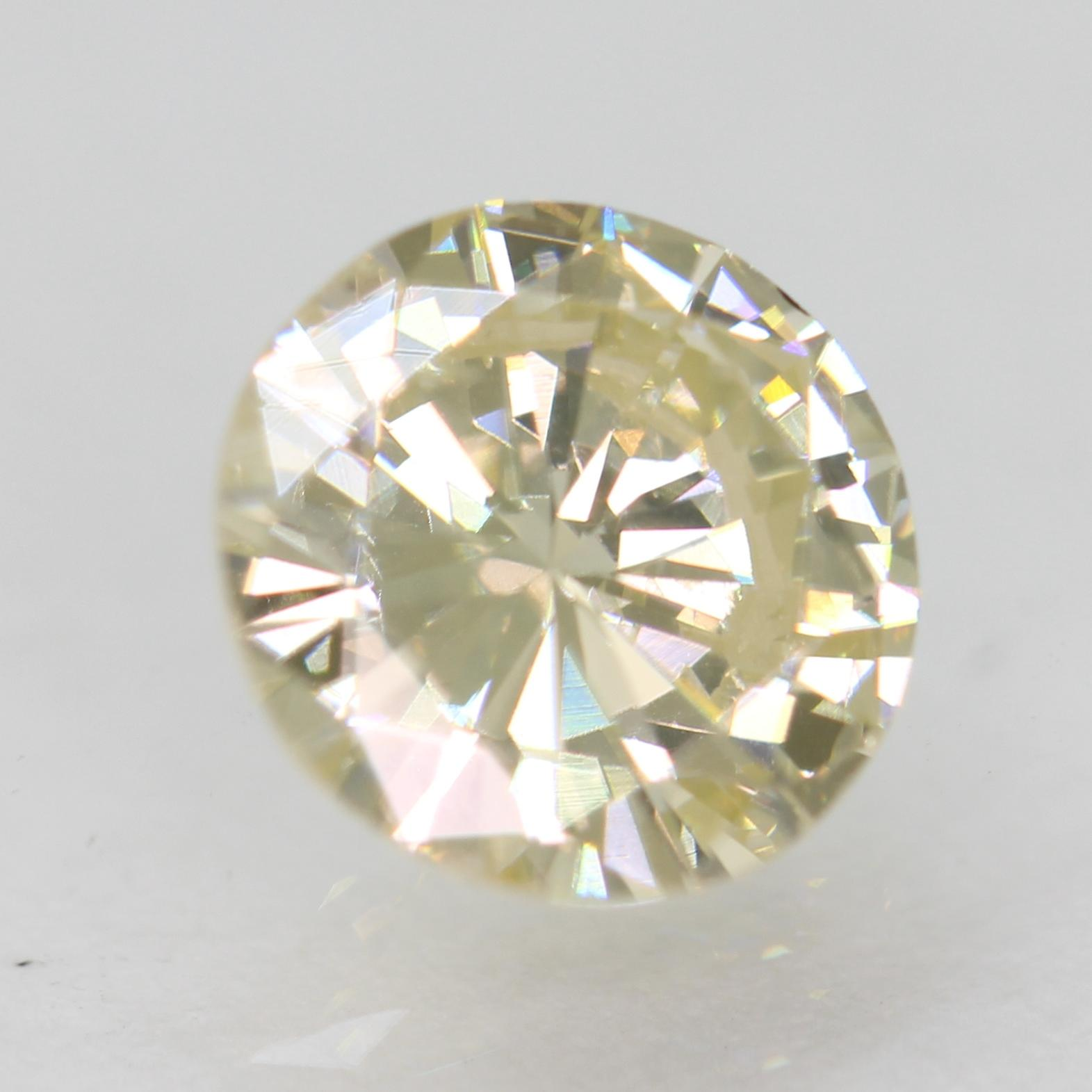 Certified 1.00 Carat J Color VS2 Round Brilliant Natural Loose Diamond 6.72m 3VG