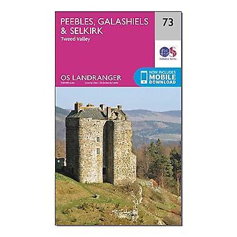 New OS Landranger 73 Peebles Galashiels & Selkirk Tweed Valley Map Orange