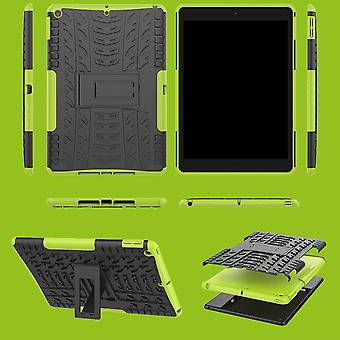 For Eple iPad 10,2 tommer 2019 syvende generasjon hybrid utendørs beskyttende veske veske grønn veske deksel