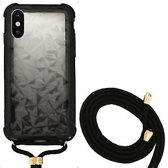 Bagcover stødsikker ledning 3D PC til Apple iPhone XS Max sort
