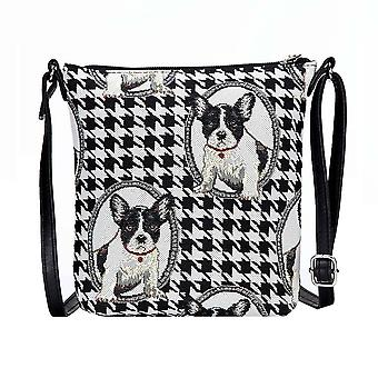 Franse Bulldog schouder Sling Bag door signare tapijten/Sling-fren