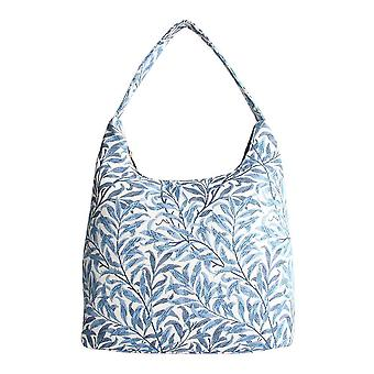 William Morris-Willow gren skulder Hobo bag av signare billedvev/Hobo-wiow