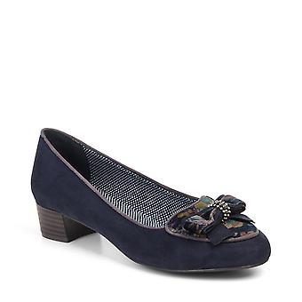 Ruby Shoo Victoria musta loafer pumput & matching Acapulco laukku & Geneve kukkaro