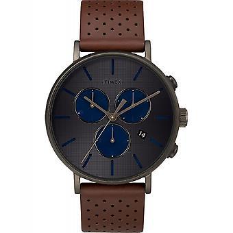 Timex TW2R80000 Fairfield Chronograph Supernova Wristwatch Gunmetal Grey