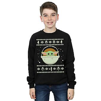Star Wars Boys The Mandalorian The Child Christmas Sweatshirt