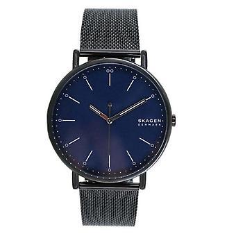 Skagen mäns klocka armbandsur signatur rostfrittstål svart SKW6529