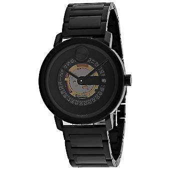 Movado Men's Reloj de marcado negro - 3600677