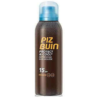 Piz Buin Protect and Cool Mousse Solare Rinfrescante FPS 15 - 200 ml