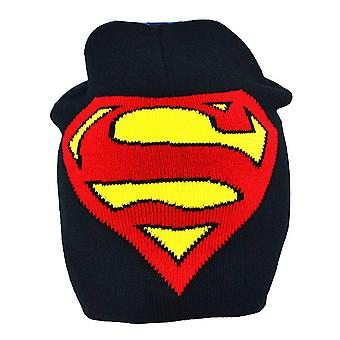 Superman Childrens/Boys Official Logo Roll Down Beanie Hat