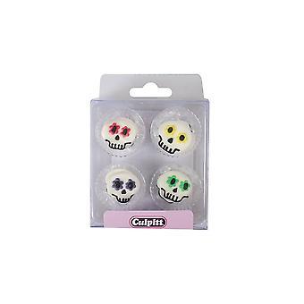 Culpitt eetbare partij schedels suiker pipings taart decoraties cupcake toppers set van 12